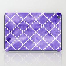 curvy purple pattern iPad Case