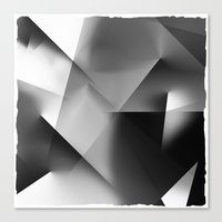 Monochromatic Cubism Canvas Print