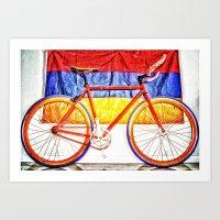 Armenian Fixie  Art Print