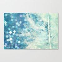 Feather & Sparkle Canvas Print