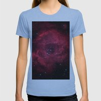 ROSETTA - NEBULA. Womens Fitted Tee Athletic Blue SMALL