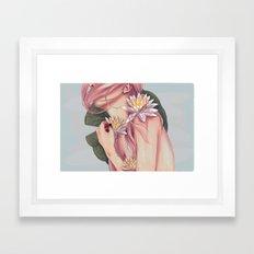 And She Loved Lillies Framed Art Print