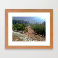Good and Bad things come together Framed Art Print