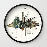 Collage City Mix 9 Wall Clock