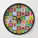 Alphabet Landscape Wall Clock