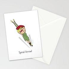 Spiral Arrow Stationery Cards