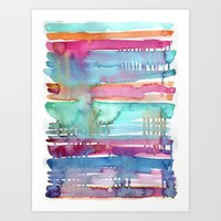 Water Stripes Art Print