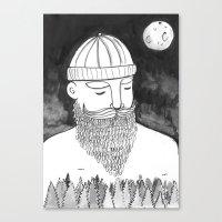 The Magically Wonderful Snow Beard Canvas Print