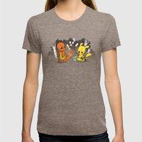 Toastymon Womens Fitted Tee Tri-Coffee SMALL