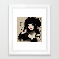 L'Oiseau silence Framed Art Print