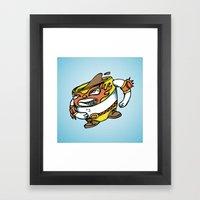 The Flying Luchador Mug … Framed Art Print