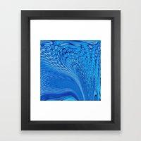 Magical Motion In Blue Framed Art Print