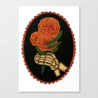 Marigolds For The Dead Canvas Print