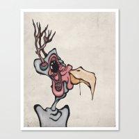 Buck n' Cluck Canvas Print