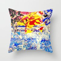 Abstract painting  - Sunset over The Sea Throw Pillow
