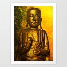 golden balance Art Print