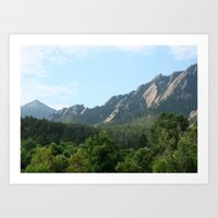 Boulder Art Print