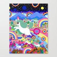 Gary the Farting Unicorn Canvas Print