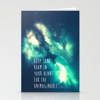 Keep some room in your heart Stationery Cards