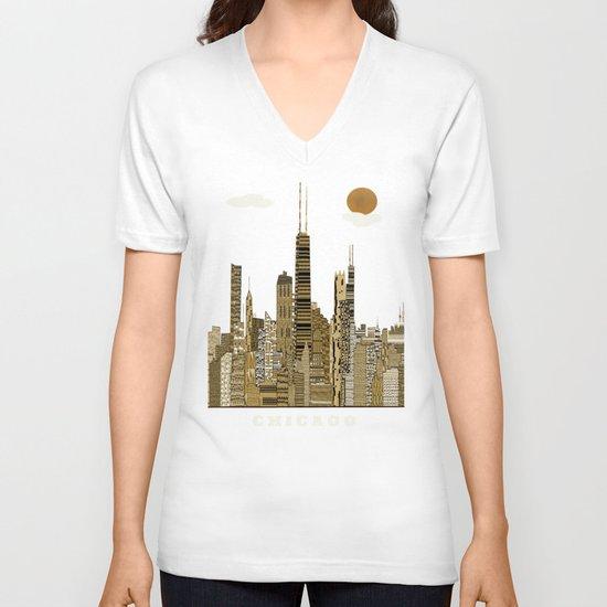 Chicago city (vintage V-neck T-shirt