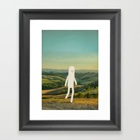 walking in tuscany Framed Art Print