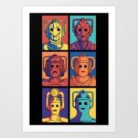 Cyberpop Evolution Art Print