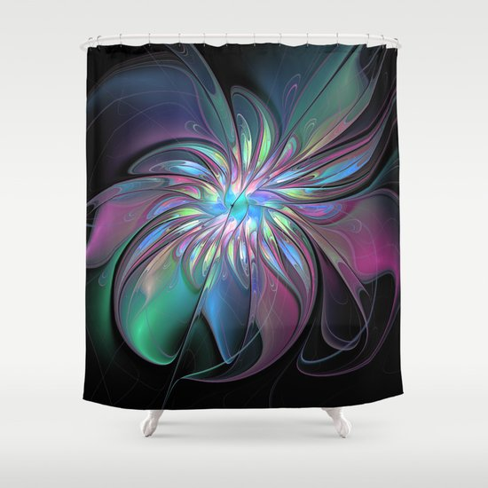 Abstract fantasy fractals art shower curtain by gabiw art for Fantasy shower curtains