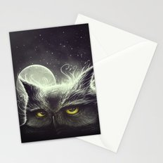 Owl & The Moon Stationery Cards