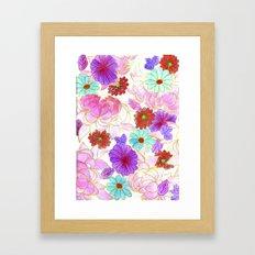 Oriental blossom Framed Art Print