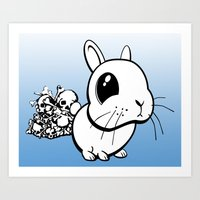 bunny Art Prints featuring Bunny by Bill Giersch