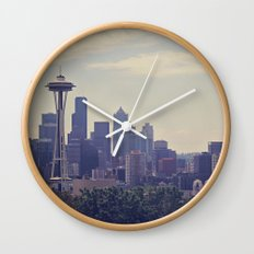 Seattle Skyline Wall Clock