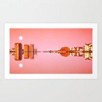 River Ayr Reflection Art Print