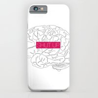 brain iPhone & iPod Cases featuring Brain by AMOSLIDE