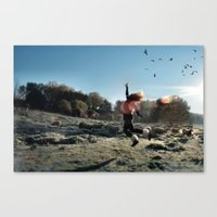 Touch The Sky And Fly Canvas Print