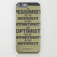 iPhone & iPod Case featuring Pessimist / Optimist by NeilRobertLeonard