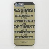 Pessimist / Optimist iPhone 6 Slim Case
