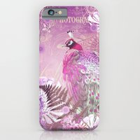 iPhone & iPod Case featuring PINK PEACOCK by Monika Strigel