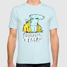 Hammer Time Mens Fitted Tee SMALL Light Blue