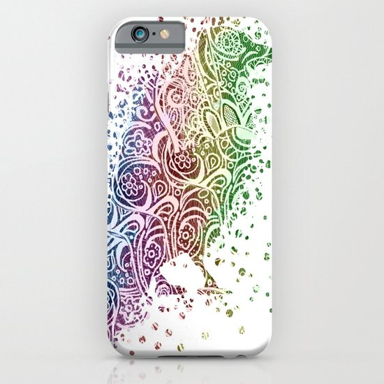 A Crow of Lace and Color iPhone & iPod Case