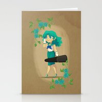 Retro Sailor Neptune Stationery Cards