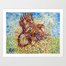 Mighty Golden Eagle  Art Print