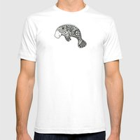 Manatee Mens Fitted Tee White SMALL