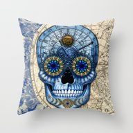 Astrologiskull - Astrolo… Throw Pillow