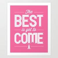 Hot Pink Hope  Art Print