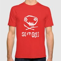 So It Goes (White) Mens Fitted Tee Red SMALL