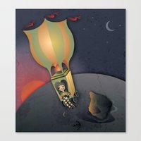 Flying Away With The Cir… Canvas Print