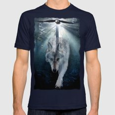 The Gathering - Wolf and Eagle Mens Fitted Tee Navy SMALL