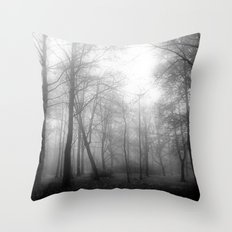 Black And White Forest..… Throw Pillow