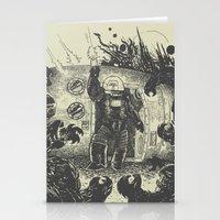 Space slugs die easy Stationery Cards