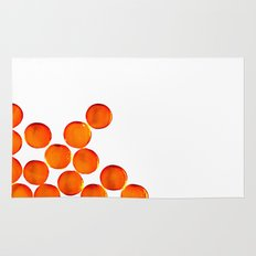 Crystal Balls Orange Rug